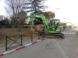 Terrassement de jardin dans le Var