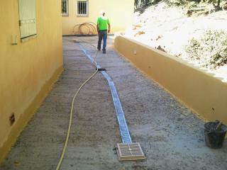 Réalisation d'un sol perméable Permeaway à Brignoles