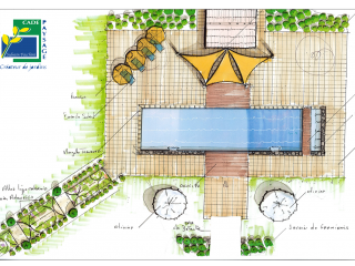 Réalisation d'un plan paysager pour votre jardin
