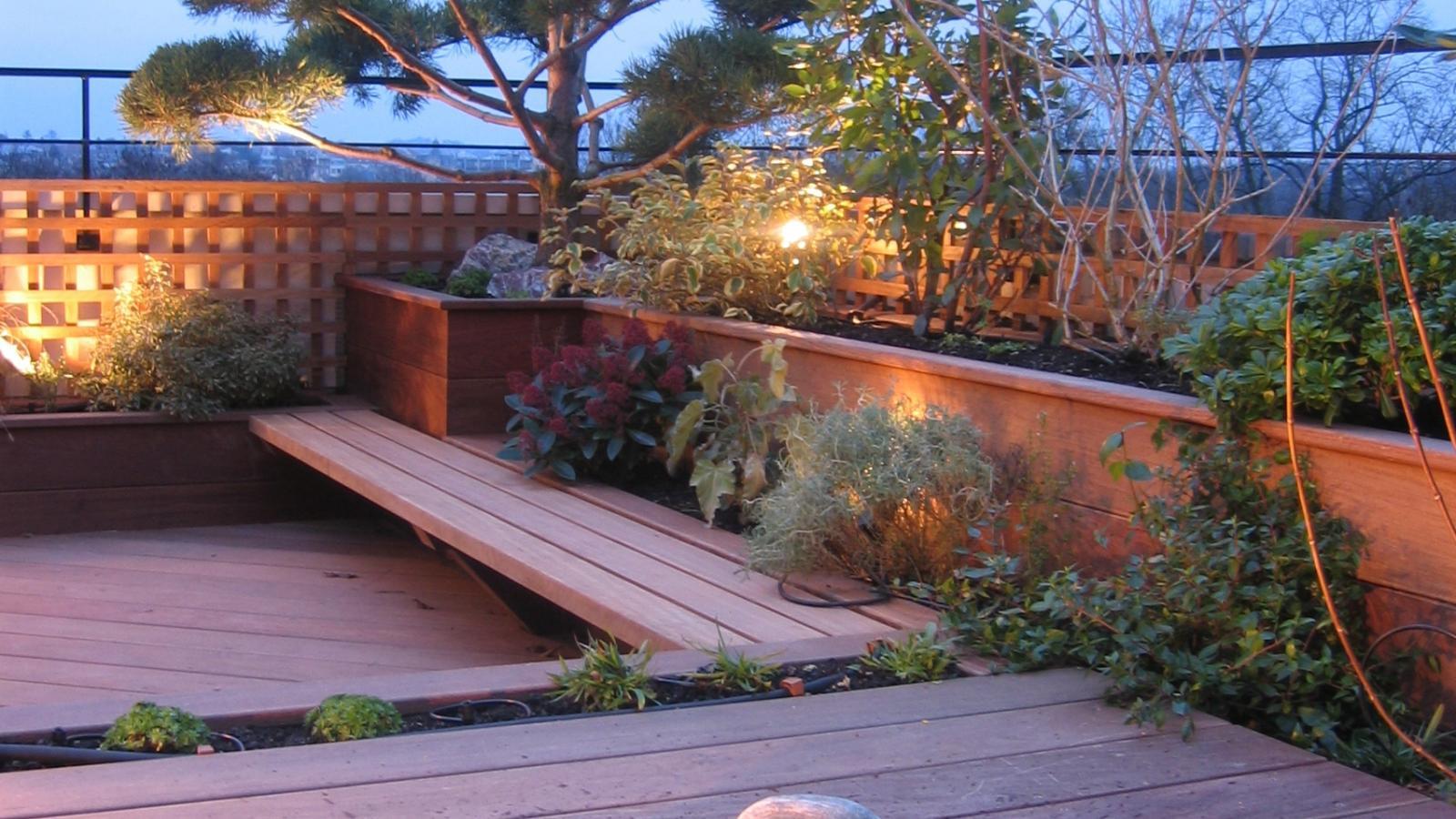 Eclairage du jardin et mise en lumière