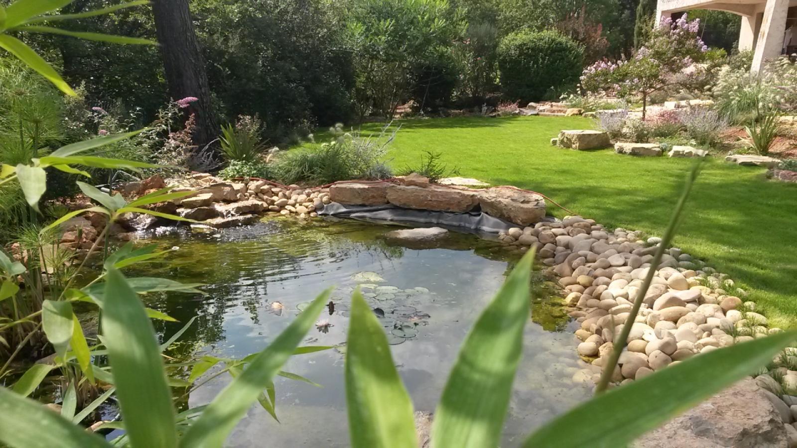 L'eau : création de bassins et installation d'arrosage automatique