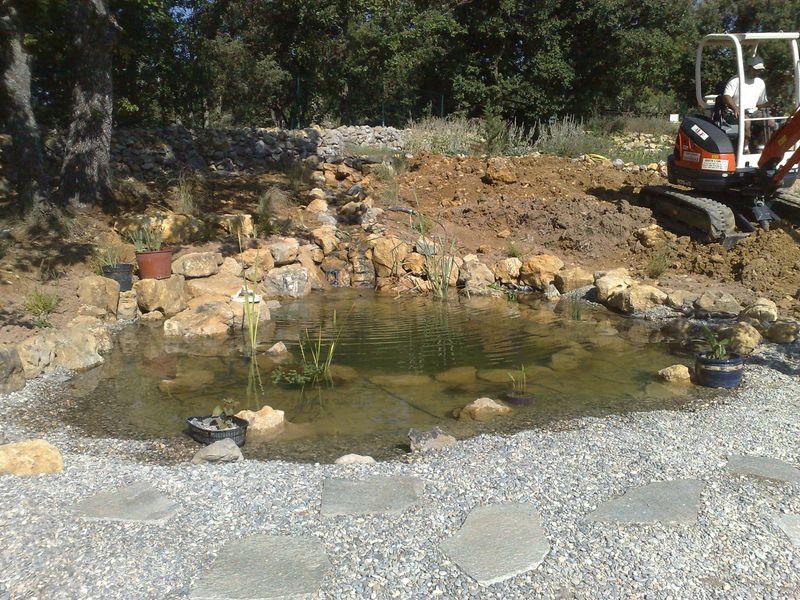 creer un bassin naturel piscine tang avec de vieux pneus with creer un bassin naturel. Black Bedroom Furniture Sets. Home Design Ideas